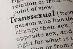 Definition of Transsexual Stock Photo