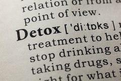 Definition von Detox lizenzfreie stockfotos