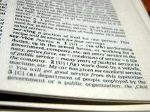 Definition von Dienstleistungen Lizenzfreie Stockfotos