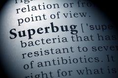 Definition von Superbug Stockfotos