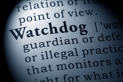 Definition of watchdog Stock Photography