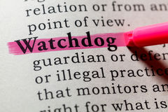 Definition of watchdog Royalty Free Stock Photo