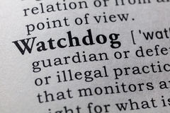 Definition of watchdog Royalty Free Stock Image