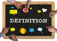 DEFINITION word, business concept Stock Photos