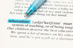 Definition word education in dictionary Royalty Free Stock Image