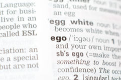 The definition of the word ego Royalty Free Stock Photography
