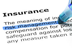 Definition Of The Word Insurance Stock Photography