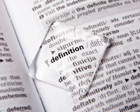 Definition Stock Photo