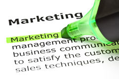 Definition Of The Word Marketing royalty free stock photo