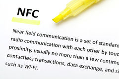 Definition of the word NFC Stock Images
