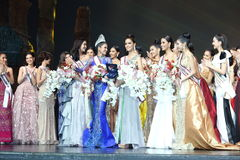 Definitywny Round chybienie Ponadnarodowy Tajlandia 2017 na dużej scenie a Obrazy Stock