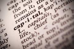 Definizione capitale Fotografia Stock Libera da Diritti