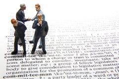 Definizione del comitato Immagine Stock