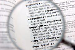 Definizione del copyright immagine stock libera da diritti