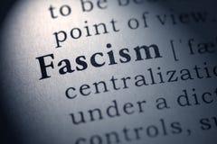 Definizione del fascismo di parola fotografie stock libere da diritti