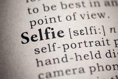Definizione del selfie di parola fotografia stock libera da diritti