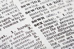 Definizione del sesso fotografia stock libera da diritti