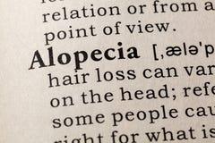 Definizione dell'alopecia Immagini Stock