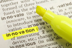 Definizione dell'innovazione Immagine Stock