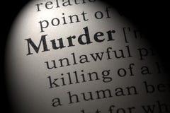 Definizione dell'omicidio Fotografia Stock