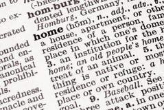 Definizione della casa Immagine Stock