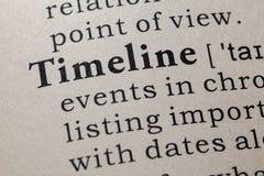 Definizione della cronologia immagine stock