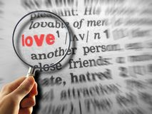 Definizione di amore Fotografia Stock Libera da Diritti