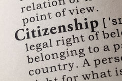 Definizione di cittadinanza fotografia stock libera da diritti
