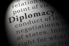 Definizione di diplomazia fotografie stock
