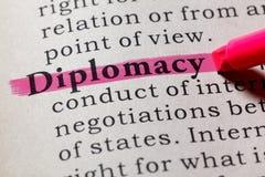 Definizione di diplomazia immagine stock