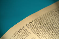 Definizione di dizionario (formazione) Fotografia Stock