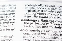 Definizione di ecologia fotografia stock