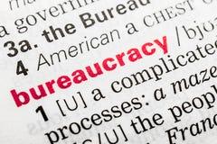 Definizione di parola della burocrazia Immagine Stock Libera da Diritti