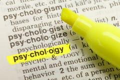 Definizione di psicologia Immagini Stock Libere da Diritti