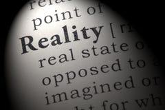 Definizione di realtà Fotografia Stock Libera da Diritti