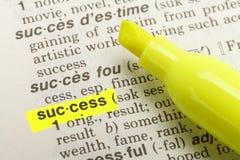 Definizione di successo Fotografie Stock