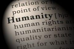 Definizione di umanità fotografia stock