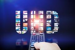 Definizione ultra alta 4K, tecnologia di UHD della televisione 8K Fotografie Stock