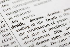 defintion θανάτου στοκ φωτογραφίες με δικαίωμα ελεύθερης χρήσης