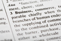 Defintion of Business Stock Images