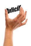 defizit stockbild