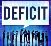 Defizit-Risiko-Verlust ziehen Rezessions-Konzept ab stockbilder