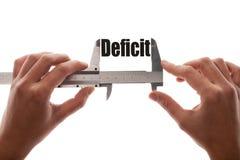 Defizitgröße lizenzfreies stockbild
