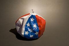Deflated American flag balloon Royalty Free Stock Images