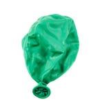 Deflated balon odizolowywający Fotografia Stock