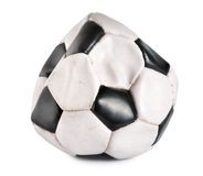 Deflated soccer ball Stock Photos