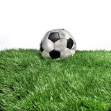 Deflated soccer ball Stock Images