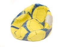 deflaterad fotboll Royaltyfri Bild