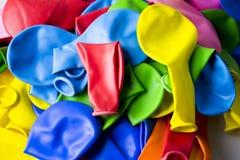 Deflaterade ballonger Arkivbild