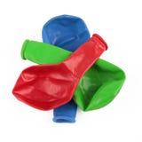Deflaterat färgrikt ballongutklipp Royaltyfri Fotografi